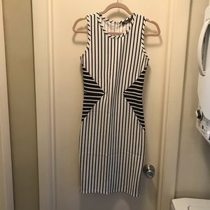 Dresses & Skirts - Black & white striped dress